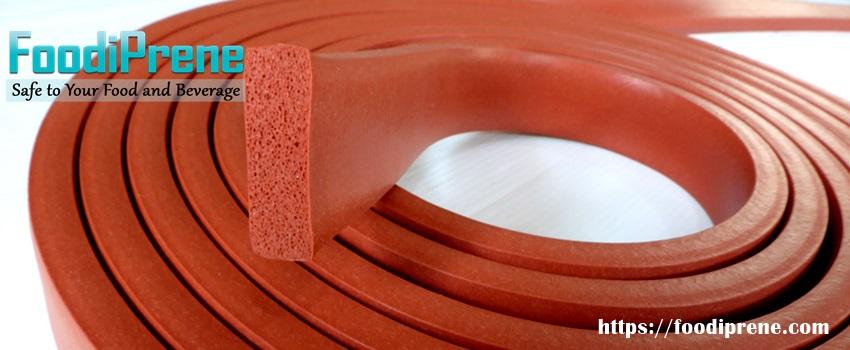 ยางฟองน้ำสี่เหลี่ยมฟู้ดเกรดทนความร้อนสูง 315 C